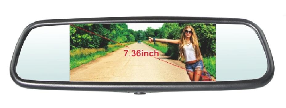 7.36 inch Rear View TFT LED Monitor with 3 video input, Universal bracket